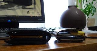 小銭なしの小さい財布の厚み