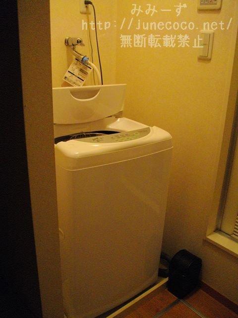 積まれたタオルがなくなり、正常な洗濯機になった