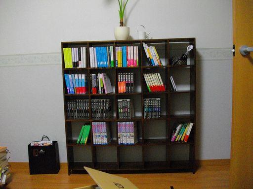 手元に残す本がすべておさまり、まだ余裕がある本棚